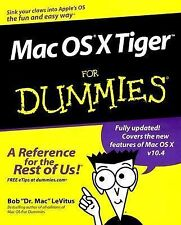Mac OS X Tiger For Dummies, LeVitus, Bob, Good Condition, Book