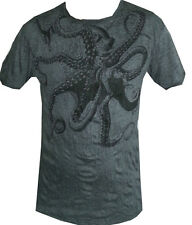 aa1 buy online cotton Yoga Men Shirt octopus Ocean nature Hobo Boho L RARE Sure
