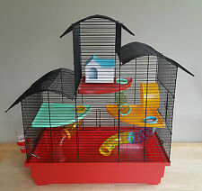 Hamster Cage X Large House Tube Wheel 100ml Water Bottle Mouse Towers 3 Floors