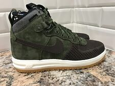 Nike Lunar Force 1 One Duckboot Olive Green Army Black Men's SZ 8 805899-200