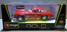BURAGO - GOLD COLLEZIONE - MERCEDES BENZ 300 SL 1954 - RED (scale 1/18)