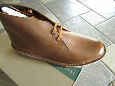 NEW CLARKS BUSHACRE 2 LEATHER SHOES SHOE BOOTS MENS 13 COGNAC TAN