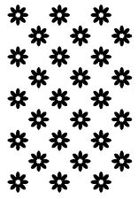 Daisy background rubber stamp