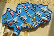 Map of Ibiza Island, Spain Tourist Travel Souvenir 3D Resin Fridge Magnet Craft