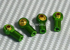 M3 METAL ROD ENDS For Aluminum Link Ends  GREEN  (4PCS)