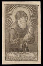 santino incisione 1700 S.FRANCESCO DI PAOLA
