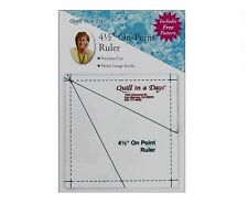 """Quilt in a Day 4 1/2"""" On-Point Ruler includes Free Pattern"""