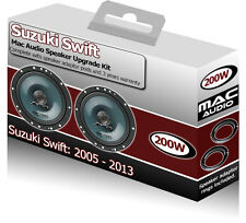 Suzuki Swift Front Door speakers Mac Audio car speaker kit 200W + adapter pods