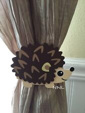 Nursery Curtain Tie Backs - 2pc Set Nursery Decor - Hedgehog