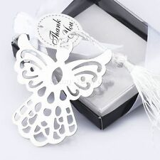 10Pcs Boxed Gift Guardian Angel Bookmark w Tassels for Wedding Favors Party Gift