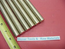 "6 Pieces 3/8"" C360 BRASS SOLID ROUND ROD 8"" long New Lathe Bar Stock .375"""