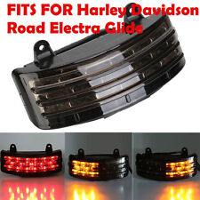 Fender Rear Tri-Bar LED Turn Signal Tail light For Harley Road Street Glide Tour