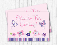 Pink & Purple Butterfly Party Favor Thank You Tags