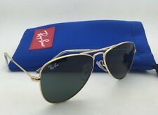 Junior Collection Kids Ray-Ban Sunglasses RJ 9506-S 223/71 Gold w/ Green Lenses
