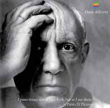PABLO PICASSO ARTIST APPLE IPHONE 6 THINK DIFFERENT MOTIVATION MINI POSTER