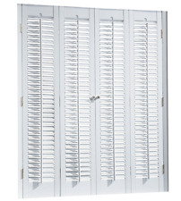 """Faux Wood DIY Traditional 1 1/4"""" Interior Shutter Kits 39"""" Width"""