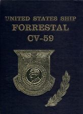 USS FORRESTAL CV-59 MEDITERRANEAN DEPLOYMENT CRUISE BOOK YEAR LOG 1982 - NAVY