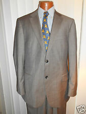 HUGO BOSS BLACK LABEL FINE ZIGZAG  PASINI 2 GRAY SUIT  SIZE 42 R  EXCELLENT.!