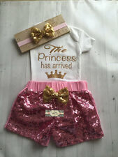 Baby Girl Glitter Onesie ONLY, Personalized The Princess Has Arrived