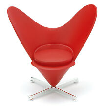 ReacJapan Heart-Shaped Cone Chair-RED Miniature Mid-Century Designer Chairs