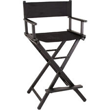 Director Aluminum Lightweight Makeup Artist Chair Black Pro Professional 29""