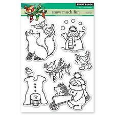 PENNY BLACK RUBBER STAMPS CLEAR SNOW MUCH FUN NEW STAMP SET