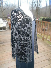 The Limited -Sheer & Black Velvet Holiday Wedding Formal Jacket - Top size L