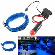 2M 12V Car Interior LED EL Wire Blue Cold Light Lamp Neon Lamp Atmosphere Lights
