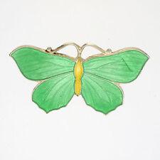 English Art Deco Siver Enamel Butterfly Brooch