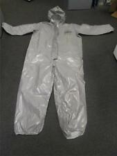 DUPONT TYCHEM CPF 2  2XL COVERALL  Chemical Hazmat SILVER Suit [ XXL ] 2T431