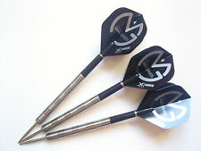 MICHAEL VAN GERWEN XQ MAX FLIGHTS WITH 23 GRAM 90% TUNGSTEN DARTS SET & CASE..._