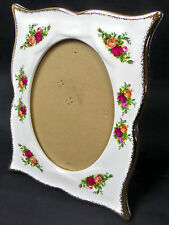 OLD COUNTRY ROSES PHOTO FRAME, 1st QUALITY, VGC, 1993-2002, ENGLAND ROYAL ALBERT