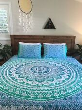 Indian Ombre Mandala Duvet Covers Hippie King Size Bedding Throw Quilt Cover