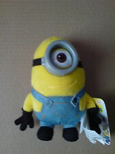 MINIONS MOVIE - PLUSH BUDDIES - 16CM STUART WITH PVC GLASSES TOY SOFT DOLL NEW