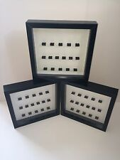 3 X Black Display Frame For Lego 16 X Minifigures.(Minifigures Are Not Included)