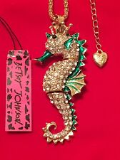 """King"" Seahorse Necklace - Betsey Johnson Fashion Jewelry - USA Seller"