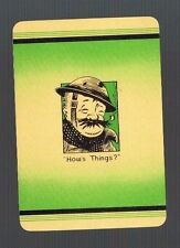 """Playing  Cards 1 VINT  ENG  WIDE """"OLD BILL? """"   PIPE   SMOKING   GENT  MINT 88EW"""