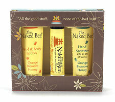 The Naked Bee Mini Bee Kit Orange Blossom Honey Lotion Balm Hand Sanitizer NEW