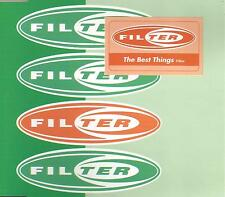 FILTER best things EDIT & REMIX & Take Picture LIVE CD Single SEALED USA seller