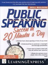 Public Speaking Success in 20 Minutes a Day (Skill Builders)-ExLibrary