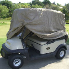 4 PASSENGER GOLF CART COVER FITS EZ GO, Club Car, Yamaha, Eagle, Taupe Storage