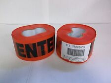 """(Lot of 2) 3"""" x 1000' Danger Do Not Enter Red Safety Tape Barricade Roll (A4S)"""