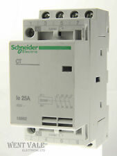 Schneider - 15962- CT Four Pole 25a NO Contactor 240v Coil New in Boxes
