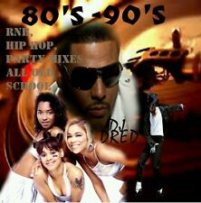 40 TRACKS ☆80'S - 90'S MUSIC CD ☆R&B ☆HIP HOP ☆PARTY MIXES ☆OLD SCHOOL ☆DJ Dred