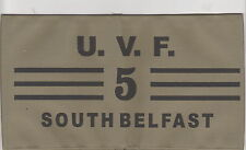 UVF Ulster Volunteer Force Commanders Armband South Belfast