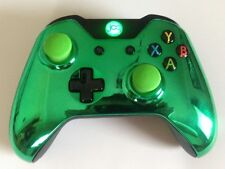 Xbox One 1 Custom Wireless Controller (Chrome Green) Domed Thumbsticks