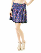 Superdry Women's New Floral Print Skirt Dark Blue Size L BCF66