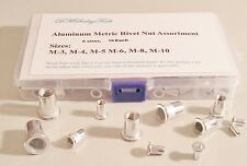 Rivet Nut Threaded Metric Aluminum Insert Assortment Home  Repair Kit Free S.H.