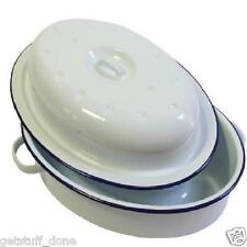 30cm FALCON ENAMEL white OVAL ROASTER OVEN ROASTING CASSEROLE OVEN PAN DISH