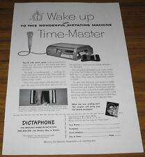 1952 VINTAGE AD~DICTAPHONE TIME-MASTER DICTATING MACHINES